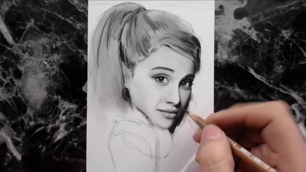 Ариана Гранде картинки для срисовки (16)