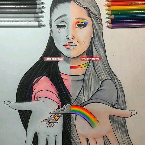 Ариана Гранде картинки для срисовки (6)