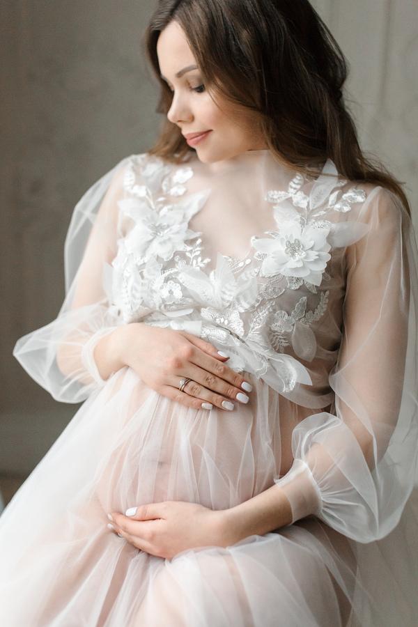Будуарная фотосессия беременной женщины - лучшие фото (10)