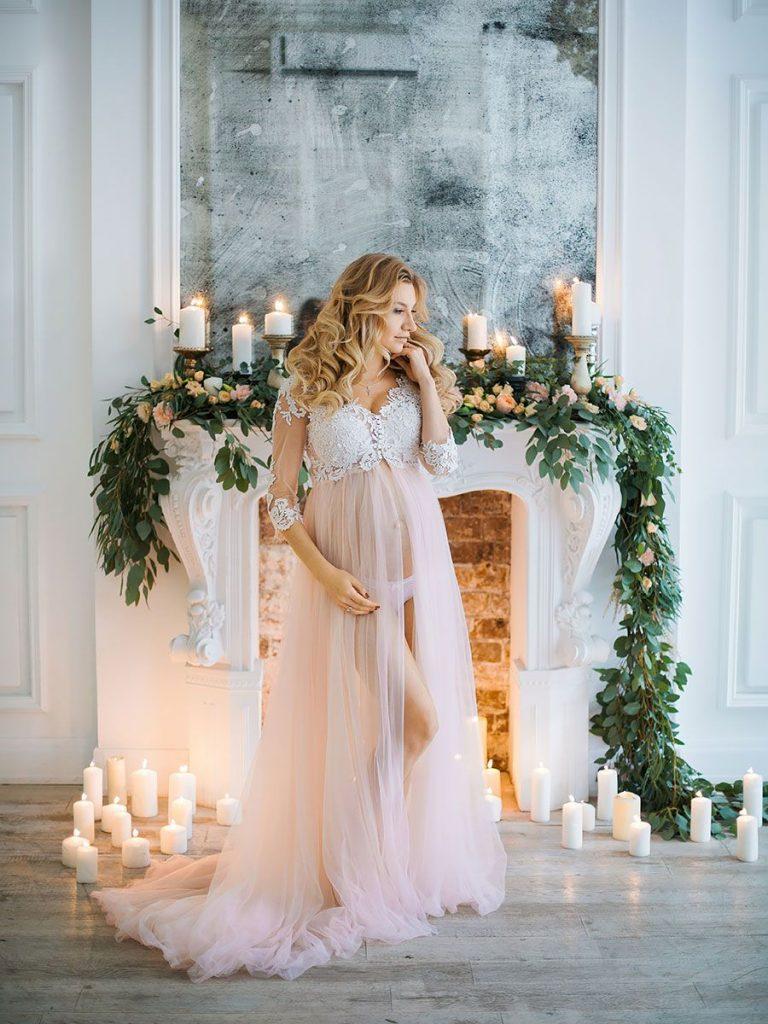 Будуарная фотосессия беременной женщины - лучшие фото (12)