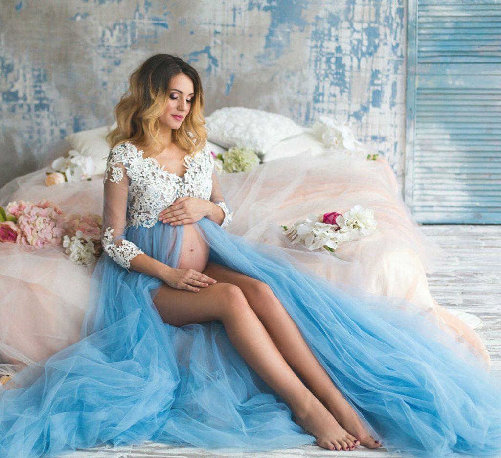 Будуарная фотосессия беременной женщины - лучшие фото (9)