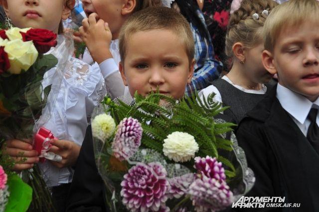 Букеты из георгинов на 1 сентября - фото (10)