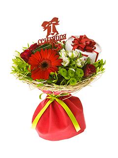 Букеты из цветов на 1 сентября - фото идеи (10)