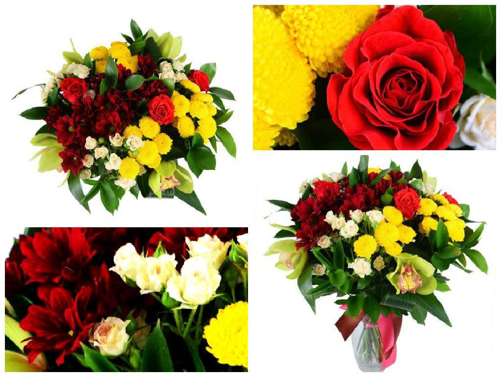 Букеты из цветов на 1 сентября - фото идеи (14)