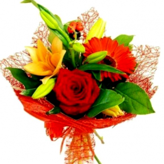 Букеты из цветов на 1 сентября - фото идеи (15)