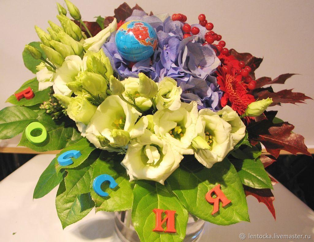 Букеты из цветов на 1 сентября - фото идеи (17)