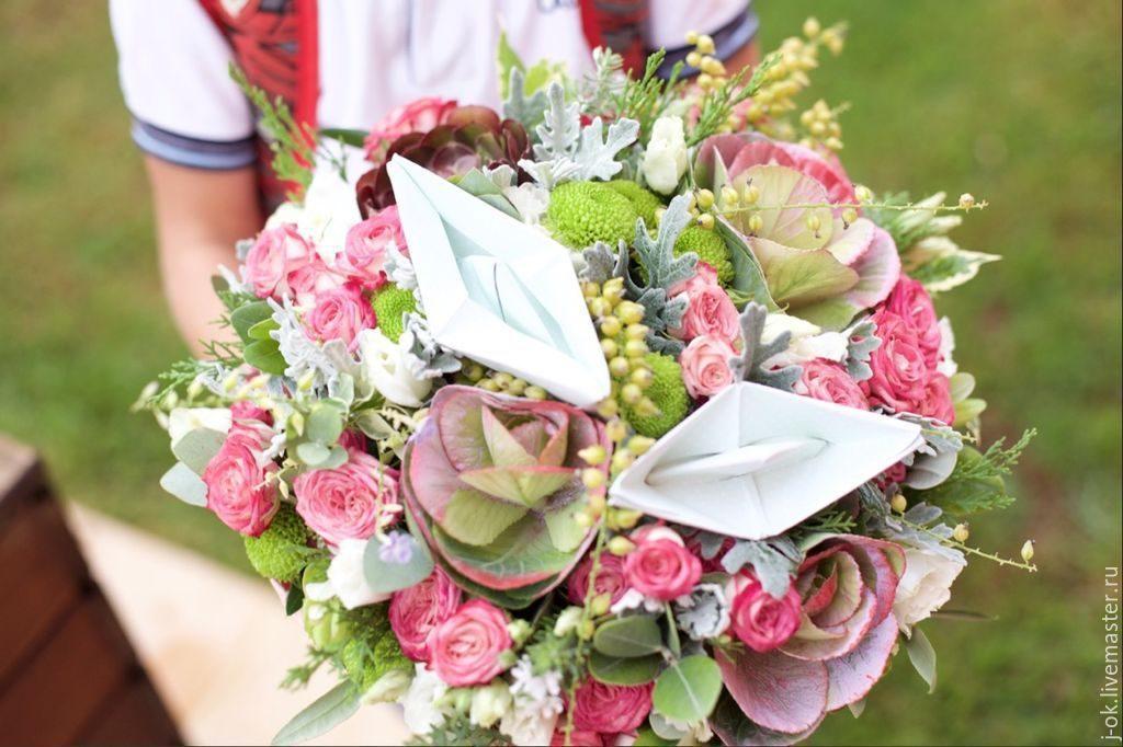 Букеты из цветов на 1 сентября - фото идеи (21)