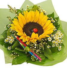 Букеты из цветов на 1 сентября - фото идеи (5)