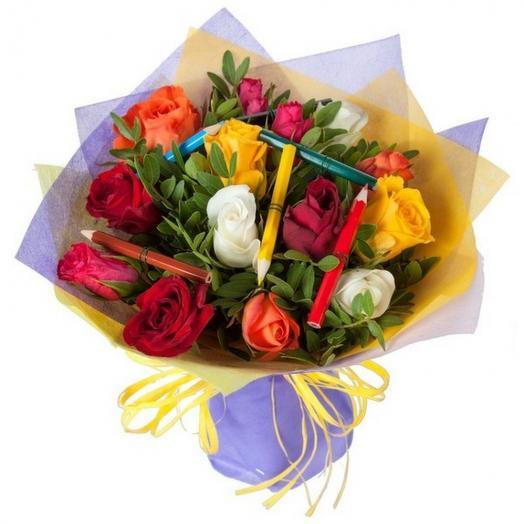 Букеты из цветов на 1 сентября - фото идеи (8)