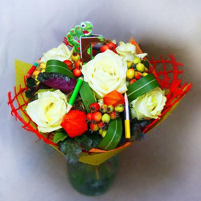 Букет из роз на первое сентября - фото и картинки (14)