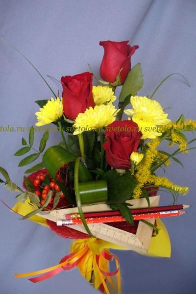 Букет из роз на первое сентября - фото и картинки (9)