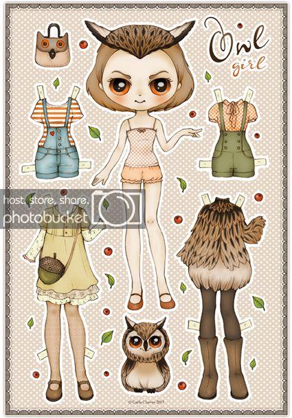 Бумажные аниме куклы   подборка картинок (1)
