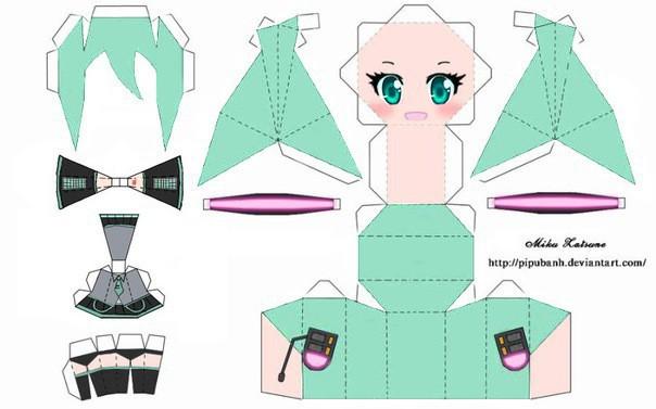 Бумажные аниме куклы   подборка картинок (10)