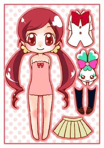 Бумажные аниме куклы   подборка картинок (13)