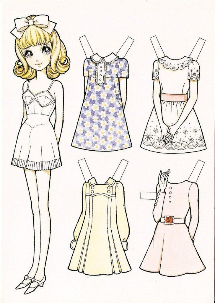 Бумажные аниме куклы - подборка картинок (19)