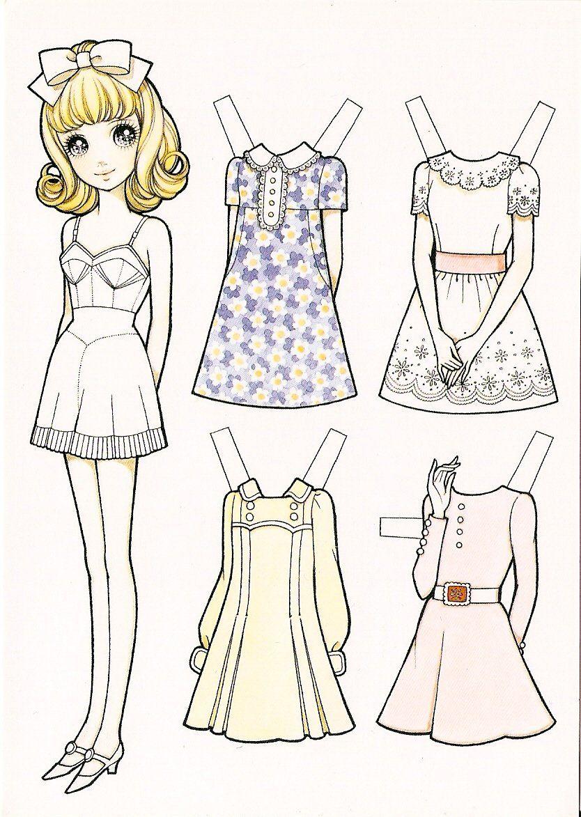 Бумажные аниме куклы   подборка картинок (19)