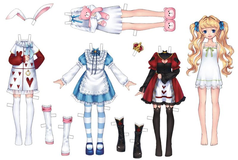 Бумажные аниме куклы   подборка картинок (2)