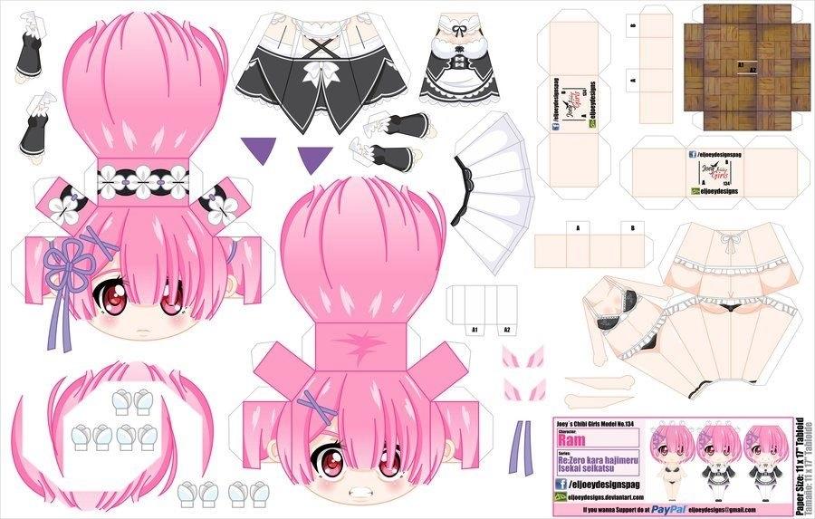 Бумажные аниме куклы   подборка картинок (21)