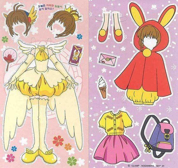 Бумажные аниме куклы   подборка картинок (25)