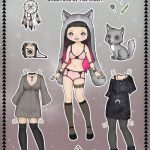Бумажные аниме куклы — подборка картинок