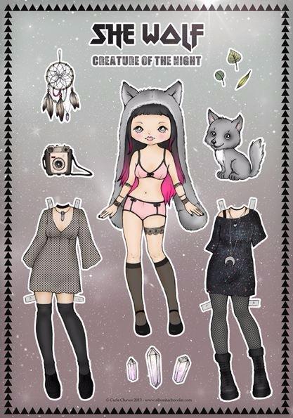 Бумажные аниме куклы   подборка картинок (26)
