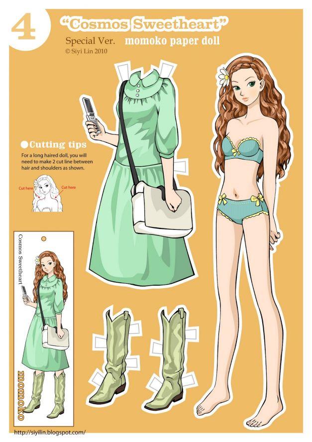 Бумажные аниме куклы   подборка картинок (27)