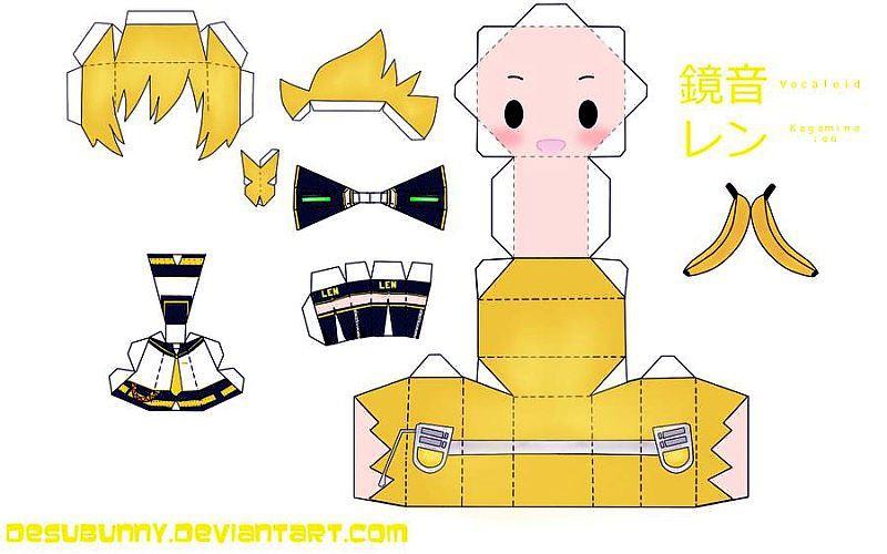 Бумажные аниме куклы   подборка картинок (3)