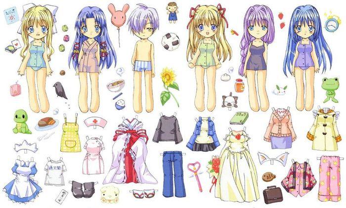 Бумажные аниме куклы   подборка картинок (4)
