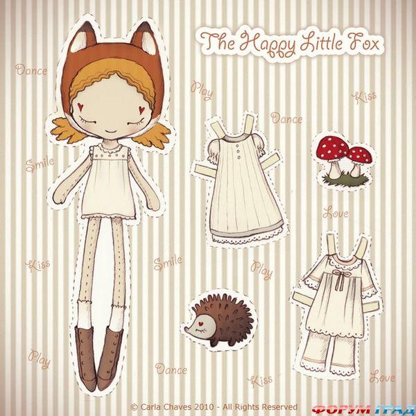 Бумажные аниме куклы   подборка картинок (5)
