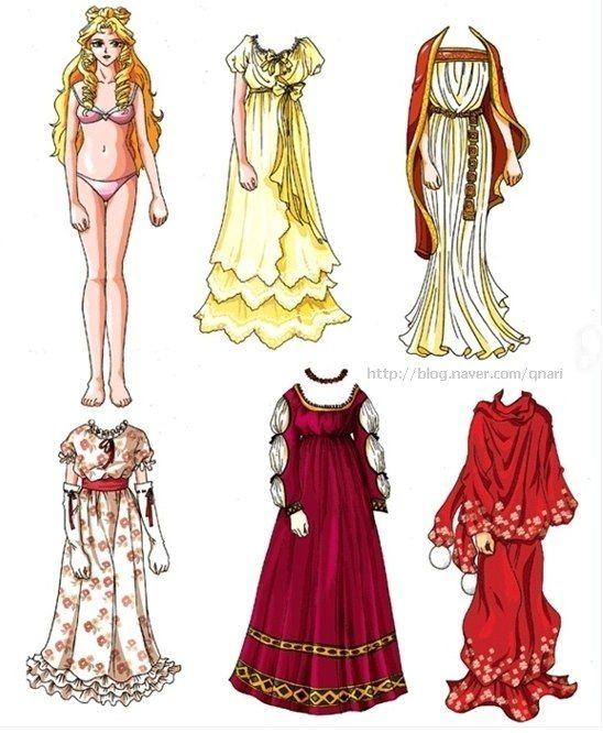 Бумажные аниме куклы - подборка картинок (6)