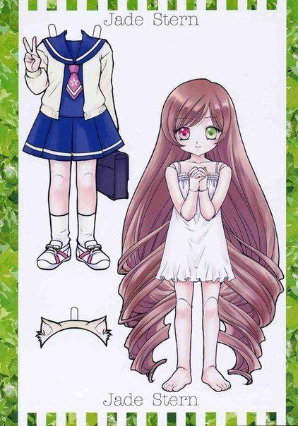 Бумажные аниме куклы   подборка картинок (8)