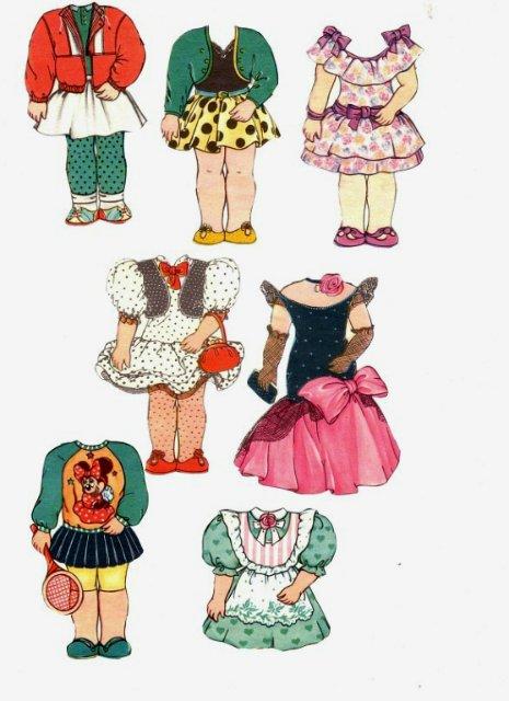 Бумажные аниме куклы   подборка картинок (9)