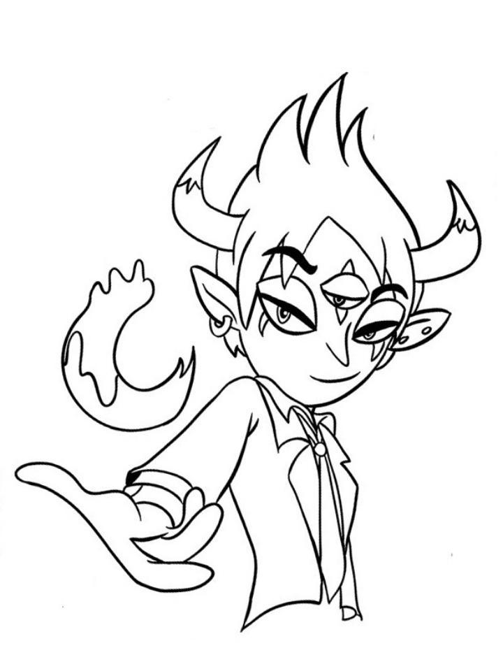 Как нарисовать Тома из Стар Против Сил Зла поэтапно   рисунки (4)