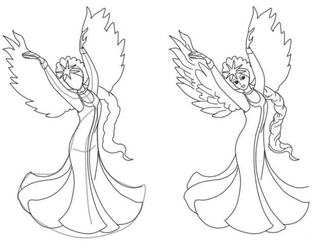 Как нарисовать Царицу Лебедь из сказки о Царе Салтане (1)