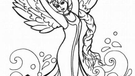 Как нарисовать Царицу Лебедь из сказки о Царе Салтане (13)