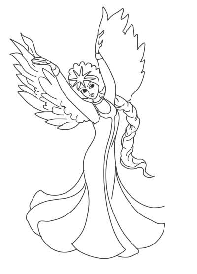 Как нарисовать Царицу Лебедь из сказки о Царе Салтане (2)