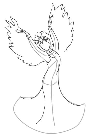 Как нарисовать Царицу Лебедь из сказки о Царе Салтане (3)