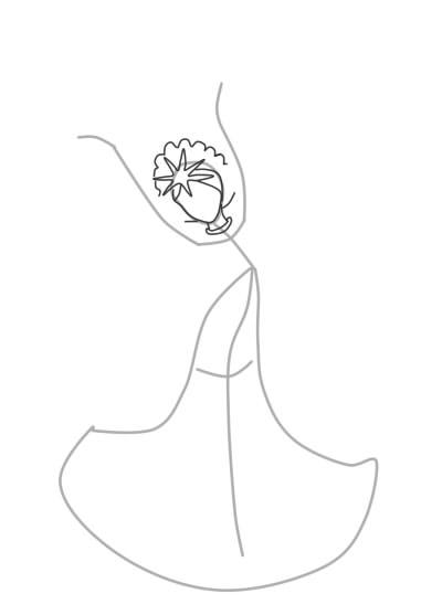 Как нарисовать Царицу Лебедь из сказки о Царе Салтане (5)