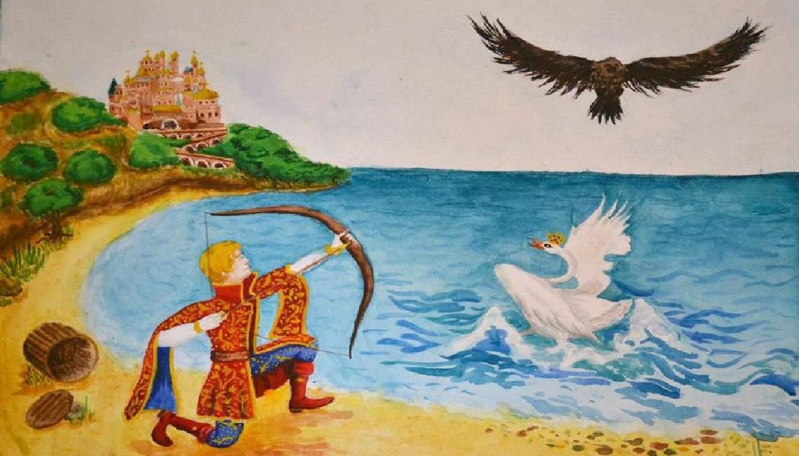 Как нарисовать Царицу Лебедь из сказки о Царе Салтане (8)