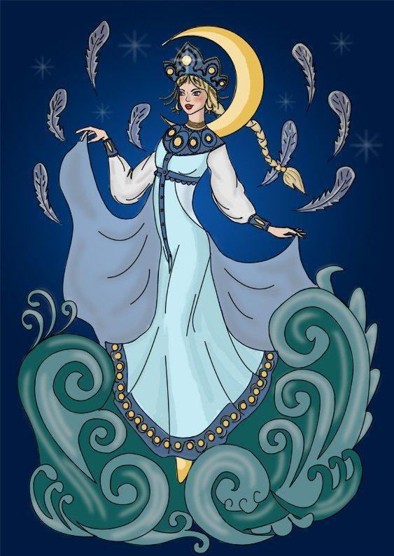 Как нарисовать Царицу Лебедь из сказки о Царе Салтане (9)