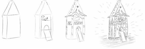 Как нарисовать белку из сказки о Царе Салтане поэтапно - рисунки (10)