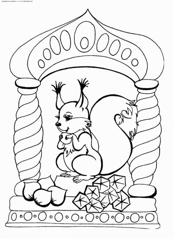Как нарисовать белку из сказки о Царе Салтане поэтапно - рисунки (19)