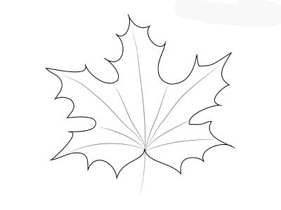Как поэтапно нарисовать осенний лист карандашом для начинающих - рисунки (14)