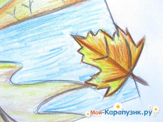 Как поэтапно нарисовать осенний лист карандашом для начинающих - рисунки (20)