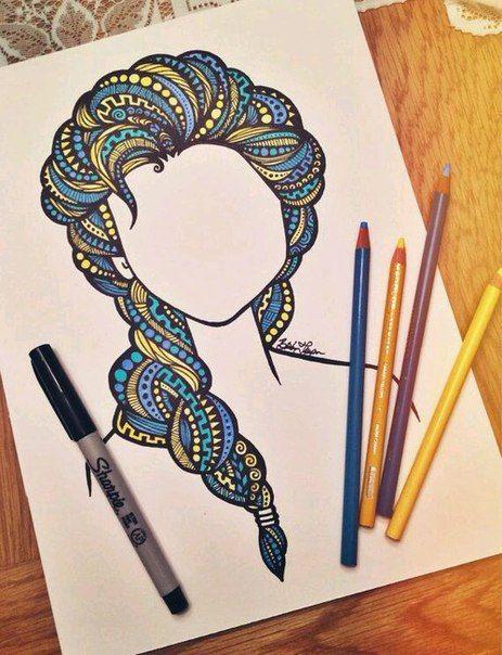 Картинки для срисовки маркерами - лучшая сборка (1)