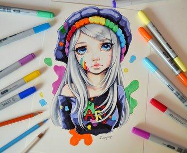 Картинки для срисовки маркерами - лучшая сборка (10)