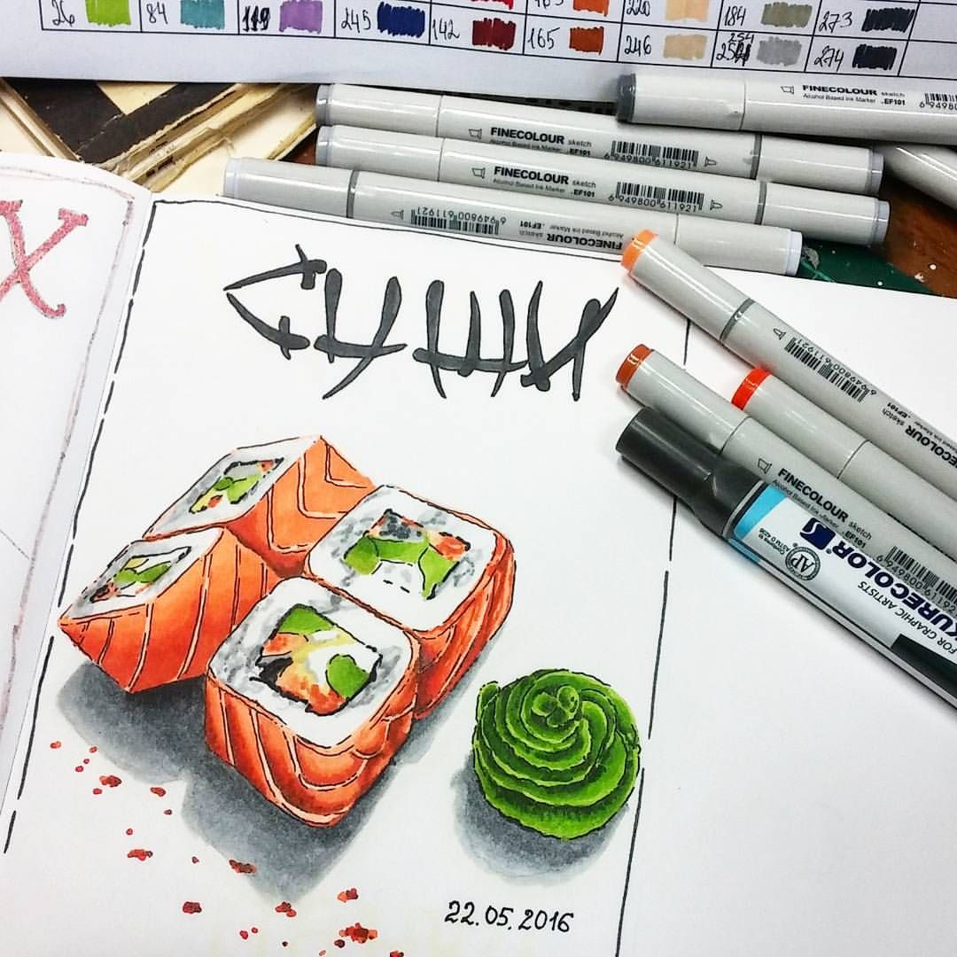 Картинки для срисовки маркерами   лучшая сборка (27)