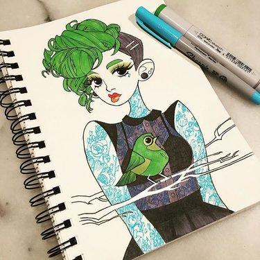 Картинки для срисовки маркерами - лучшая сборка (5)