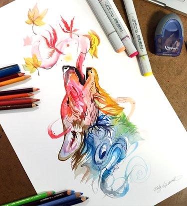 Картинки для срисовки маркерами - лучшая сборка (6)