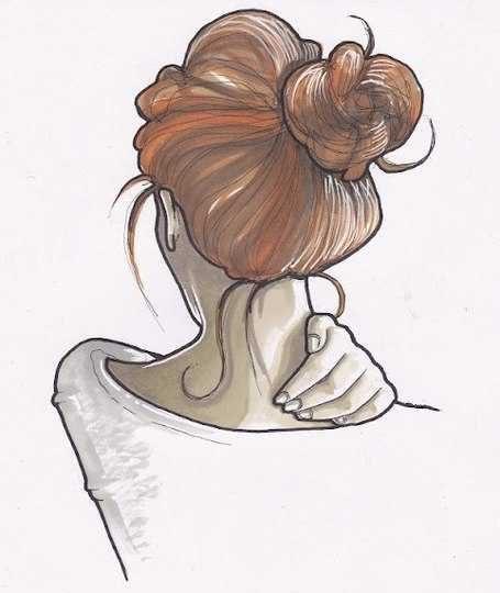 Картинки карандашом для срисовки девушки со спины легкие (10)